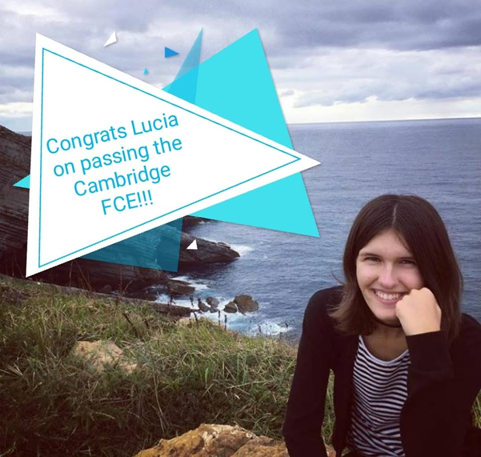Congratulations to Lucia and Oda on passing the FCE!!!
