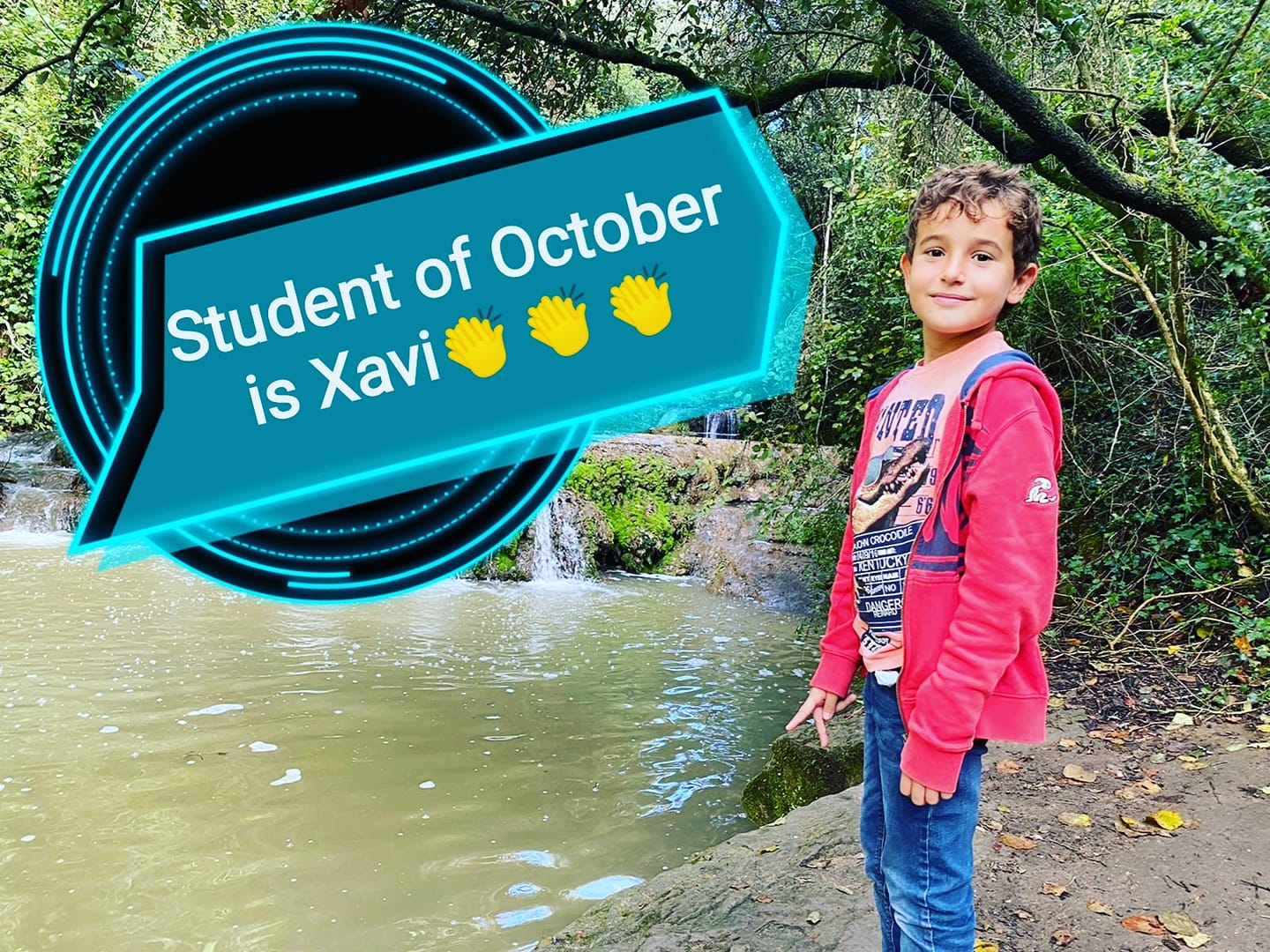 Xavi is our student of October