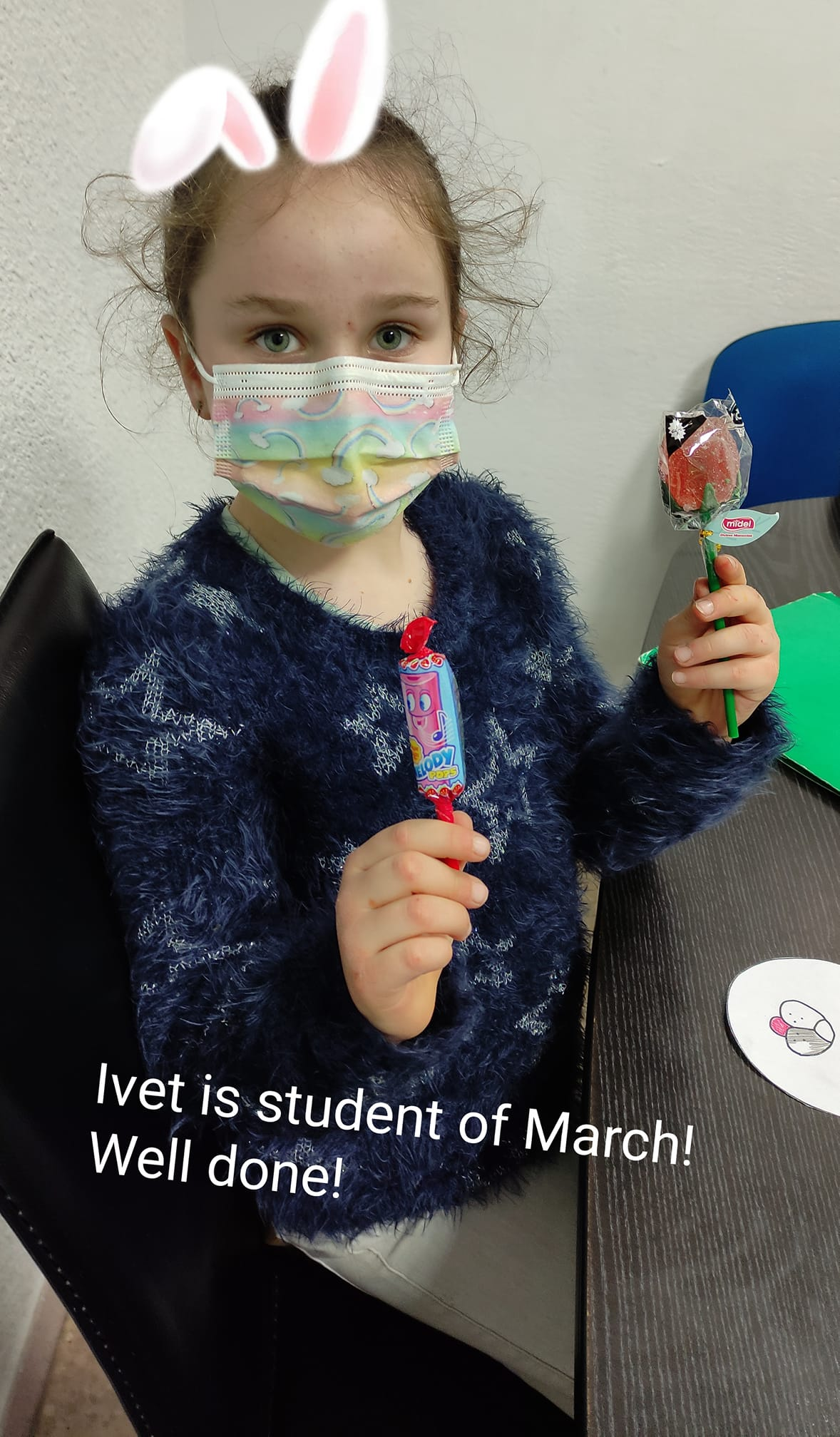 Ivet is the student of March! Well done.