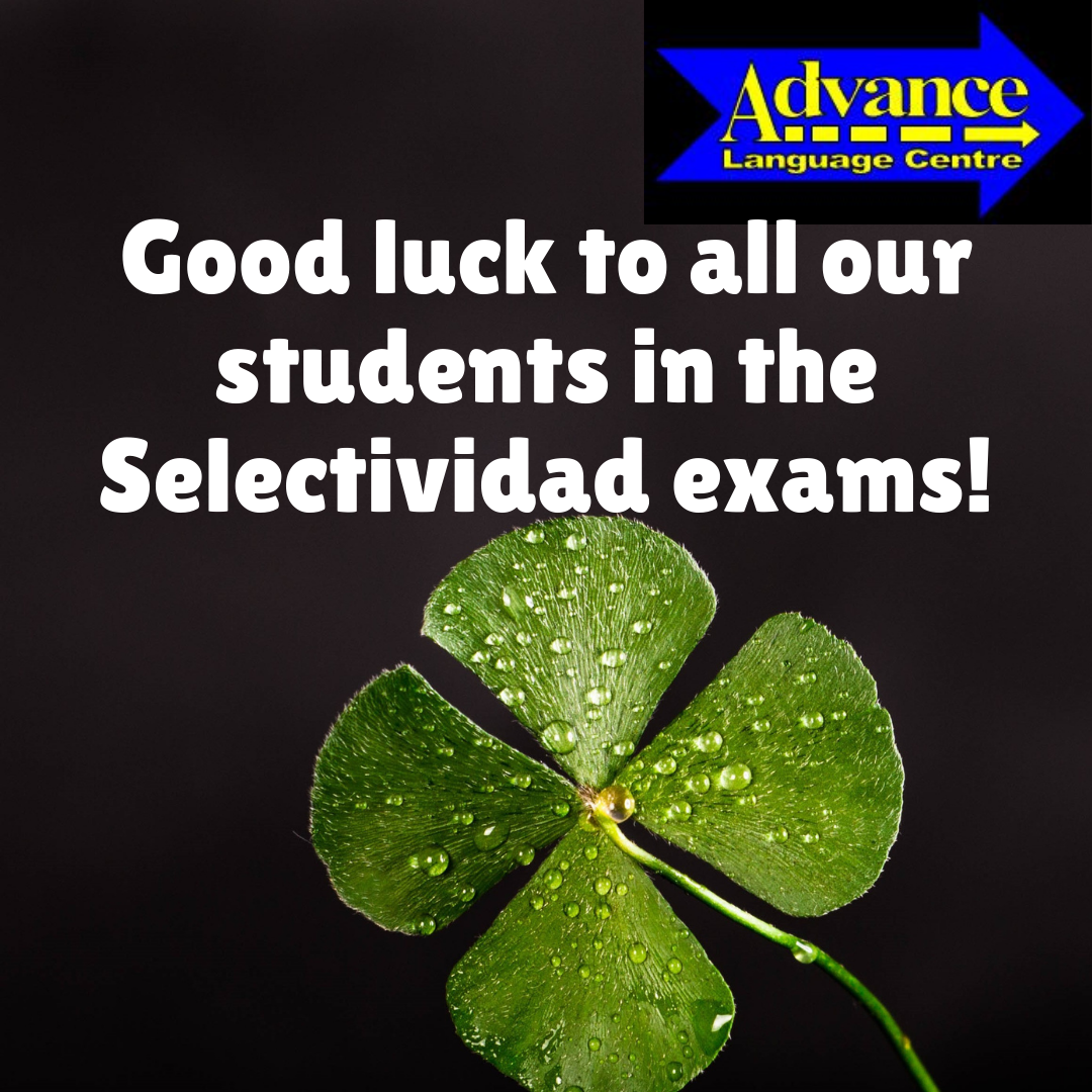 Good luck to all our students this week in the University Entrance Exam of Selectividad!